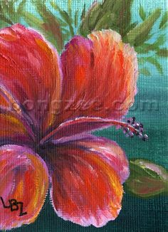 Hibiscus art by Hawaiian artist Lisa Bongzee