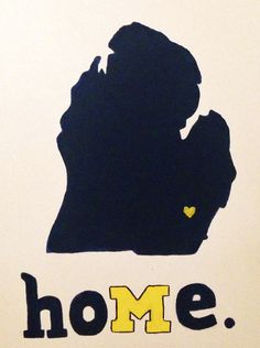...is where the heart is. #GoBlue