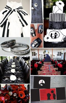 Nightmare Before Christmas Wedding @Ashley Thompson ... Cord insisted I pin this and make you look at it lol