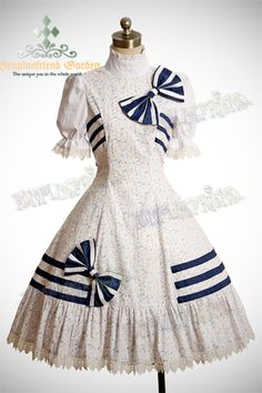 It's a loli knock off of Eliza Doolittle's at the races dress. Loooooooove! Sailor Lolita Short Sleeves Musical Notes Cotton With Stripes Dress