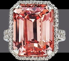 Largest Deep Pink, Internally Flawless, Emerald Cut diamond. 18.33 ct.
