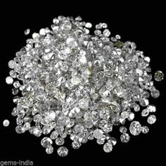 50 Diamonds,1.2mm-1.7mm/0.50CT Natural Loose White Diamonds Rounds Wholesale Lot