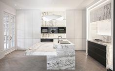 Marmeren keuken    #marmer #keuken #kitchen #inspiration #keukenblad #keukenapparatuur #inspiratie #interieurdesign #interiordesign