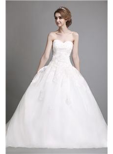 魅力的なストラップレスの恋人の床の長フリル夜会服のウェディングドレス