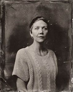 American photographer Victoria Will ~ Haunting Celebrities in vintage Tintype Photographs ~ Maggie Gyllenhaal ~ A series produced under the Sundance Film Festival 2014.