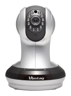 Vimtag VT-361 HD WiFi Video Monitoring Surveillance Security Camera Kit with Plug/Play, Pan/Tilt, Two-Way Audio and Night Vision -  Silver (Certified Refurbished)