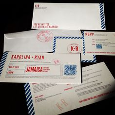 Our Destination Wedding Invites :) #jamaica