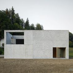Gautschi Lenzin Schenker's take on the suburbs; family house in Teufenthal 2018 Minimal Architecture, Concrete Architecture, Residential Architecture, Contemporary Architecture, Interior Architecture, Facade House, House Roof, Architectural Digest, Box Houses
