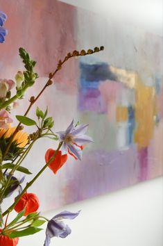 Kunst in huis | details schilderij | abstracte kunst | wooninspiratie | woonidee Detail Art, Close Up, Abstract Art, Pastel, Painting, Modern Art, Cake, Painting Art, Paintings