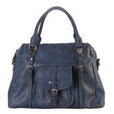 Women's Diophy /Black/Brown Faux Leather Front-pocket Zipper-closure Tote Handbag