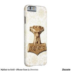 Mjölnir in Gold - iPhone Case