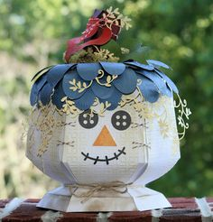 .  Pumpkin from a SVG Cuts kit. Another use for the caldron.... cute!