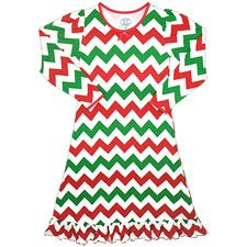 Your girl will be warm and snug this holiday season in this cute nightgown from Sara's Prints. Kids Christmas Outfits, Christmas Clothes, Christmas Sweaters, Cute Nightgowns, Toddler Pajamas, Holiday Pajamas, Green Chevron, Long Sleeve Gown, Weaving Process