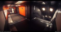 ArtStation - Star Citizen...The Starfarer: Cargo Bay control room and connecting corridors , Matthew Trevelyan Johns