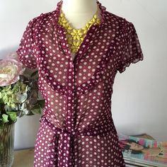 Charlotte Russe Tops - Polka-dot Short-sleeve Tunic Top