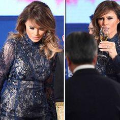 Our beautiful First Lady 🎀🇺🇸wore in South Korea 🇰🇷 a beautiful @j_mendel #jmendel long sleeve sequined lace turtleneck gown 👗. She looks absolutely stunning ⭐️ #melaniatrump #melaniatrumpstyle #melaniatrumpfashion #hervepierre #donaldtrump #southkorea #asia #maga #potus #flotus #america #history #firstlady