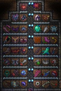 Finished by first play through of the calamity mod, supreme calamitas is hard : Terraria Terraria House Design, Terraria House Ideas, Terraria Castle, Terraria Memes, Stardew Valley Farms, Biomes, Cthulhu, Game Design, Art Tutorials