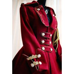 Infanta Winter Elegy Rose Embroidery Coat red ❤ liked on Polyvore featuring coats, dresses, jackets and lolita