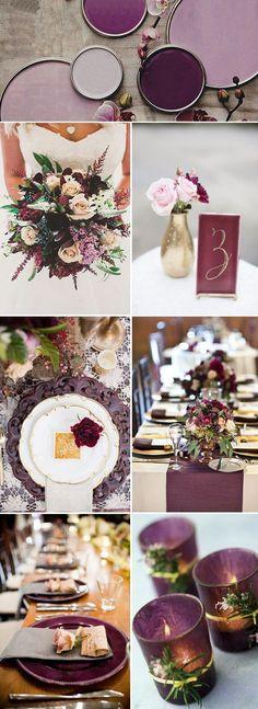 plum wedding color inspiration for 2017 #braidedcandles