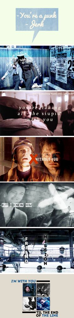 Steve Rogers and Bucky Barnes through the years...