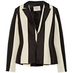 Lanvin Striped cotton-blend blazer ($3,185) ❤ liked on Polyvore