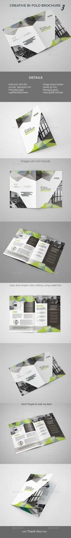 Business Square BiFold Brochure Template Brochures And - Bi fold brochure template indesign