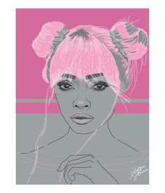 Why not be special? Pink hair. Illustration by krissmet #pinkhair #art #illustration #drawing