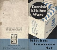Cornish Ware retail sales leaflet advertising a Trousseau Set from around 1939/1940 (v)