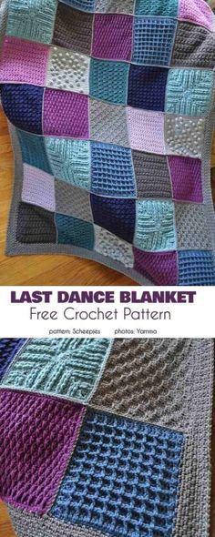 Crochet Afghans, Motifs Afghans, Crochet Square Blanket, Granny Square Crochet Pattern, Afghan Crochet Patterns, Crochet Squares, Knitting Patterns Free, Crochet Granny, Free Pattern