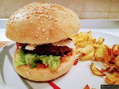 Panino per hamburger fatto in casa super goloso !