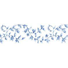 Border Stencils | Floral Embroidery Stencil | Royal Design Studio