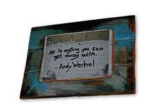Wood picture  Inspirational wall art  gift idea  by ShyTomato