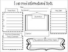 FREE Informational Text Response...students are writing informational text, maybe use this when reading each other's writing.