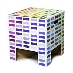 Dutch Design Chair Rainbow, Hocker, Papphocker, Pappe, Schemel, Sitzmöbel, bunt