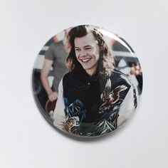 Harry Styles at GMA-One Direction Pinback by FrantasticButtons