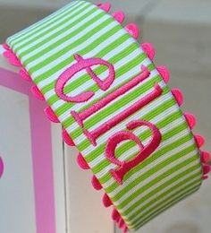 monogram headband. I just love this colour combination.