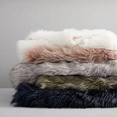 Faux Fur Brushed Tips Throw #westelm Velvet Duvet, Fuzzy Blanket, Luxury Throws, Color Depth, Faux Fur Throw, Throw Pillows, Tips, Bedroom Ideas, Bedroom Decor