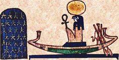 Apep, de aartsvijand van Ra (de god van de zon). De Egyptische benadering van duisternis