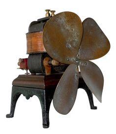 """ELEKTRON"" PERRET PATENT BI-POLAR BATTERY FAN 1889-1890"