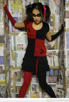Post with 0 votes and 2582 views. My homemade Harley Quinn costume. Superhero Costumes Female, Superhero Costumes Kids, Dc Costumes, Halloween Costumes For Teens Girls, Super Hero Costumes, Cool Costumes, Costumes For Women, Costume Ideas, Halloween Ideas