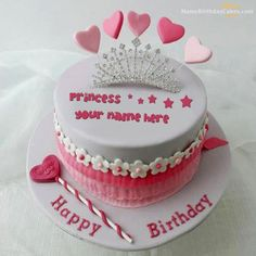 write name on Princess Cake picture