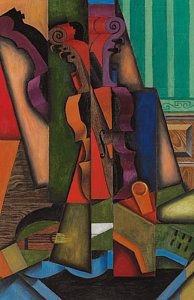 Giclee Print: Guitar and Violin, 1913 by Juan Gris : Canvas Artwork, Canvas Prints, Art Prints, Oil Canvas, A0 Poster, Heritage Image, Fine Art America, Poster Size Prints, Photo Wall Art