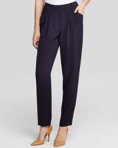 Lafayette 148 New York Pleated Ankle Pants