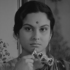 """Bengali Cinema ©: Bengali actor Madhabi Mukherjee (born on here in a scene from the film """"Charulata"""" / """"The Lonely Wife"""" (Bengali; a film by Satyajit Ray. Human Documentary, Indiana, Lonely Wife, Andrew Robinson, Satyajit Ray, Nobel Prize Winners, Cinema, Indian Film Actress, Cannes Film Festival"""