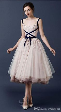 Cheap gowns for big women, Buy Quality gown bridesmaid directly from China dress up plain dress Suppliers: Paolo Sebastian Applique Beaded Dress Spaghetti straps Prom Dresses 2017 Scoop Neck Tea-Length Tulle Formal Dress Party Gown Evening Dresses, Prom Dresses, Formal Dresses, Wedding Dresses, Tulle Wedding, Bridal Gowns, Formal Prom, Dress Prom, Floral Wedding