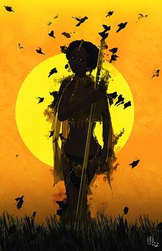 Black Women Art! – Beautiful African Warrior Princess ~ Shaman by...