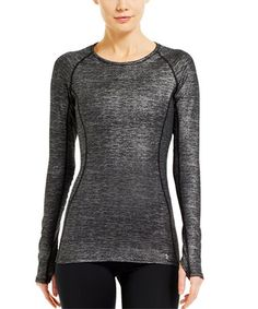 Look what I found on #zulily! Metallic Pewter Cozy Crewneck Top by Under Armour® #zulilyfinds