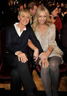 Ellen Degeneres & Portia de Rossi~ they express their love in public and are a true couple expressing their love in public in a tasteful and sweet way like I see myself doing with my lady :) <3