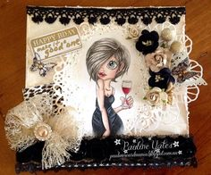 Pauline's Card Mania: EVERY GIRL NEED'S A LITTLE BLACK DRESS,    RIGHT !...