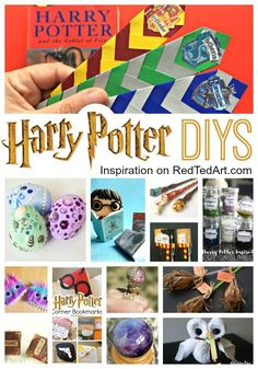 DIY Harry Potter Crafts & Ideas. Easy Harry Potter Crafts for Kids to make. #HarryPotter